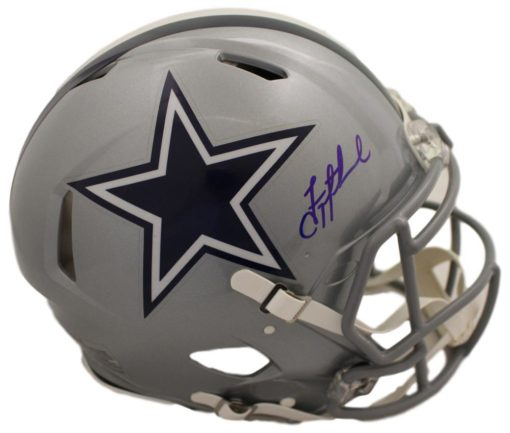 Troy Aikman Autographed Dallas Cowboys Speed Replica Helmet BAS PSM-Powers Sports Memorabilia