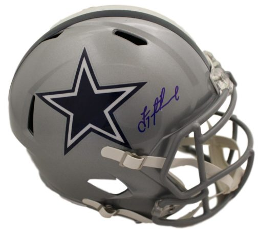 Troy Aikman Autographed Dallas Cowboys Authentic Speed Helmet BAS PSM-Powers Sports Memorabilia