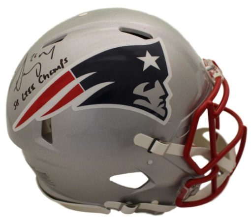 Sony Michel Autographed New England Patriots Authentic Speed Helmet SB Champs BAS PSM-Powers Sports Memorabilia