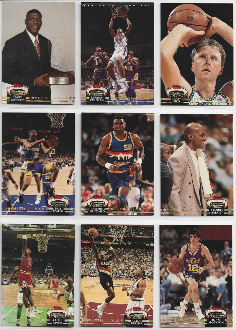 1992-93 Topps Stadium Club Basketball Complete Set PSM-Powers Sports Memorabilia