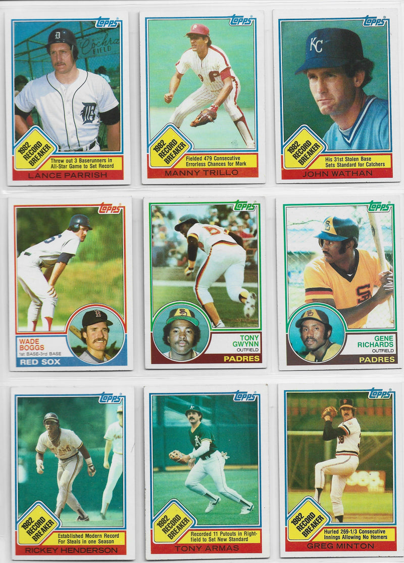 1983 Topps Baseball Complete Set PSM-Powers Sports Memorabilia