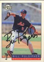 Bill Pulsipher St. Lucie Mets - Mets Affiliate 1994 Fleer Excel Autographed Card - Minor League Card. This item comes with a certificate of authenticity from Autograph-Sports. PSM-Powers Sports Memorabilia