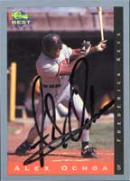 Alex Ochoa Frederick Keys - Orioles Affiliate 1993 Classic Best Autographed Card - Minor League Card. This item comes with a certificate of authenticity from Autograph-Sports. PSM-Powers Sports Memorabilia