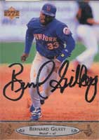 Bernard Gilkey New York Mets 1996 Upper Deck Autographed Card. This item comes with a certificate of authenticity from Autograph-Sports. PSM-Powers Sports Memorabilia
