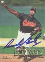 Armando Benitez Baltimore Orioles 1997 Fleer Autographed Card. This item comes with a certificate of authenticity from Autograph-Sports.-Powers Sports Memorabilia