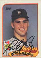 Andy Benes San Diego Padres 1989 Topps Autographed Card -  #1 Draft Pick - Rookie Card. This item comes with a certificate of authenticity from Autograph-Sports. PSM-Powers Sports Memorabilia