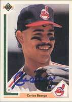 Carlos Baerga Cleveland Indians 1991 Upper Deck Autographed Card - Rookie Card. This item comes with a certificate of authenticity from Autograph-Sports. PSM-Powers Sports Memorabilia
