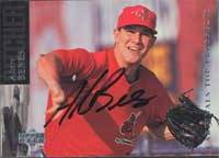 Alan Benes St. Louis Cardinals 1994 Upper Deck SP Top Prospects Autographed Card. This item comes with a certificate of authenticity from Autograph-Sports. PSM-Powers Sports Memorabilia