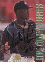 Charles Johnson Kane County Cougars - Marlins Affiliate 1994 Classic Best Gold Autographed Card - Minor League Card. This item comes with a certificate of authenticity from Autograph-Sports. PSM-Powers Sports Memorabilia