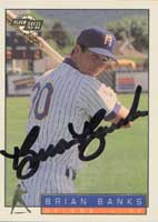 Brian Banks Helena Brewers - Brewers Affiliate 1993 Fleer Excel Autographed Card - Minor League Card. This item comes with a certificate of authenticity from Autograph-Sports. PSM-Powers Sports Memorabilia