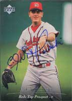 C.J. Nitkowski Chattanooga Lookouts - Reds Affiliate 1995 UD SP Top Prospect Autographed Card - Minor League Card. This item comes with a certificate of authenticity from Autograph-Sports. PSM-Powers Sports Memorabilia