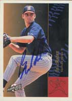 Brad Radke Nashville Xpress - Twins Affiliate 1994 Fleer Excel Autographed Card - Minor League Card. This item comes with a certificate of authenticity from Autograph-Sports. PSM-Powers Sports Memorabilia