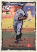 Braden Looper Prince William Cannons - White Sox Affiliate 1997 Classic Best Autographed Card - Minor League Card. This item comes with a certificate of authenticity from Autograph-Sports. PSM-Powers Sports Memorabilia