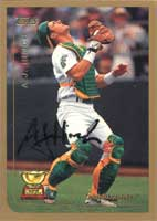 A.J. Hinch Oakland Athletics 1999 Topps All Star Rookie Autographed Card - Rookie Card. This item comes with a certificate of authenticity from Autograph-Sports. PSM-Powers Sports Memorabilia