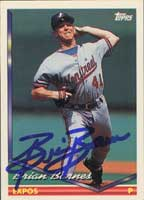 Brian Barnes Montreal Expos 1994 Topps Autographed Card. This item comes with a certificate of authenticity from Autograph-Sports. PSM-Powers Sports Memorabilia