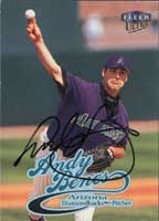 Andy Benes Arizona Diamondbacks 1999 Fleer Ultra Autographed Card. This item comes with a certificate of authenticity from Autograph-Sports. PSM-Powers Sports Memorabilia