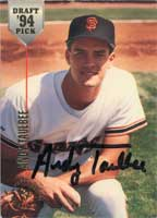 Andy Taulbee San Francisco Giants 1994 Stadium Club Draft Pick Autographed Card - Minor League Card. This item comes with a certificate of authenticity from Autograph-Sports. PSM-Powers Sports Memorabilia