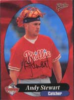 Andy Stewart Reading Phillies - Phillies Affiliate 1998 Multi-Ad Sports Autographed Card - Minor League Card. This item comes with a certificate of authenticity from Autograph-Sports. PSM-Powers Sports Memorabilia
