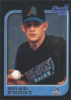 Brad Penny AZL Diamondbacks - Diamondbacks Affiliate 1997 Bowman First Card Autographed Card - Minor League Card. This item comes with a certificate of authenticity from Autograph-Sports. PSM-Powers Sports Memorabilia