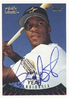 Brian Hunter Houston Astros 1995 Topps ROTY Candidate Autographed Card - Rookie Card. This item comes with a certificate of authenticity from Autograph-Sports. PSM-Powers Sports Memorabilia