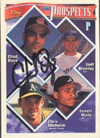 Chad Ogea Cleveland Indians 1994 Topps Prospects Autographed Card - Rookie Card. This item comes with a certificate of authenticity from Autograph-Sports. PSM-Powers Sports Memorabilia