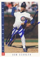 Bob Scanlan Chicago Cubs 1993 Score Autographed Card. This item comes with a certificate of authenticity from Autograph-Sports. PSM-Powers Sports Memorabilia