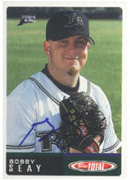Bobby Seay Orlando Rays - Devil Rays Affiliate 2002 Topps Total Autographed Card - Minor League Card. This item comes with a certificate of authenticity from Autograph-Sports. PSM-Powers Sports Memorabilia