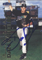Dan Wheeler Charleston River Dogs - Devil Rays Affiliate 1999 Fleer Tradition Autographed Card - Rookie Card - slight smudge on back of card. This item comes with a certificate of authenticity from Autograph-Sports. PSM-Powers Sports Memorabilia