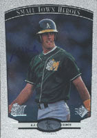A.J. Hinch Midland Rockhounds - Athletics Affiliate 1997 Upper Deck SP Small Town Heroes Foil Autographed Card - Nice Card. This item comes with a certificate of authenticity from Autograph-Sports. PSM-Powers Sports Memorabilia