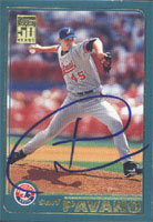 Carl Pavano Montreal Expos 2001 Topps Autographed Card - Nice Card. This item comes with a certificate of authenticity from Autograph-Sports. PSM-Powers Sports Memorabilia