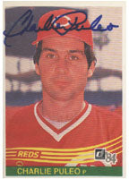 Charlie Puleo Cincinnati Reds 1984 Donruss Autographed Card. This item comes with a certificate of authenticity from Autograph-Sports. PSM-Powers Sports Memorabilia