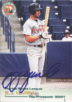 B.J. Garbe Fort Myers Miracle - Twins Affiliate 2001 Grandstand Autographed Card - Minor League Card. This item comes with a certificate of authenticity from Autograph-Sports. PSM-Powers Sports Memorabilia