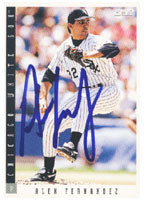 Alex Fernandez Chicago White Sox 1993 Score Autographed Card. This item comes with a certificate of authenticity from Autograph-Sports.-Powers Sports Memorabilia