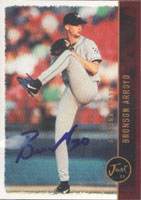 Bronson Arroyo Altoona Curve - Pirates Affiliate 1999 Just Autographed Card - Minor League Card. This item comes with a certificate of authenticity from Autograph-Sports. PSM-Powers Sports Memorabilia