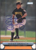 Bobby Bradley Pittsburgh Pirates 2000 Stadium Club Future Star Autographed Card - Rookie Card. This item comes with a certificate of authenticity from Autograph-Sports. PSM-Powers Sports Memorabilia