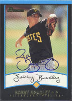 Bobby Bradley Hickory Crawdads - Pirates Affiliate 2001 Bowman Autographed Card - Minor League Card. This item comes with a certificate of authenticity from Autograph-Sports. PSM-Powers Sports Memorabilia