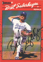 Bret Saberhagen Kansas City Royals 1990 Donruss Autographed Card - Nice Card. This item comes with a certificate of authenticity from Autograph-Sports. PSM-Powers Sports Memorabilia