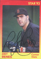 Andy Benes San Diego Padres 1993 Star Autographed Card - Minor League Card. This item comes with a certificate of authenticity from Autograph-Sports. PSM-Powers Sports Memorabilia