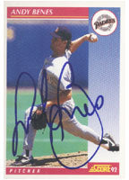 Andy Benes San Diego Padres 1992 Score Autographed Card. This item comes with a certificate of authenticity from Autograph-Sports. PSM-Powers Sports Memorabilia