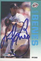 Andy Benes San Diego Padres 1992 Fleer Autographed Card. This item comes with a certificate of authenticity from Autograph-Sports. PSM-Powers Sports Memorabilia