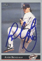 Andy Benes San Diego Padres 1992 Leaf Autographed Card. This item comes with a certificate of authenticity from Autograph-Sports. PSM-Powers Sports Memorabilia