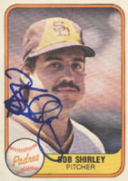 Bob Shirley San Diego Padres 1981 Fleer Autographed Card. This item comes with a certificate of authenticity from Autograph-Sports. PSM-Powers Sports Memorabilia