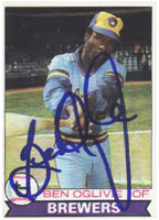 Ben Ogilve Milwaukee Brewers 1979 Topps Autographed Card. This item comes with a certificate of authenticity from Autograph-Sports. PSM-Powers Sports Memorabilia