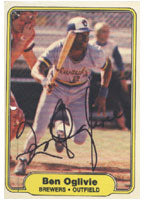 Ben Ogilve Milwaukee Brewers 1982 Fleer Autographed Card. This item comes with a certificate of authenticity from Autograph-Sports. PSM-Powers Sports Memorabilia