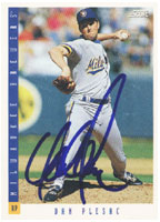 Dan Plesac Milwaukee Brewers 1993 Score Autographed Card. This item comes with a certificate of authenticity from Autograph-Sports. PSM-Powers Sports Memorabilia