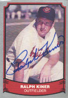 Ralph Kiner Cleveland Indians 1988 Pacific Baseball Legends Autographed Card - Nice Card. This item comes with a certificate of authenticity from Autograph-Sports. PSM-Powers Sports Memorabilia