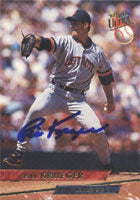 Bill Krueger Detroit Tigers 1993 Fleer Ultra Autographed Card. This item comes with a certificate of authenticity from Autograph-Sports. PSM-Powers Sports Memorabilia