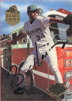 Bryan Harvey Florida Marlins 1994 Fleer Ultra - Ultra Firemen Autographed Card. This item comes with a certificate of authenticity from Autograph-Sports. PSM-Powers Sports Memorabilia
