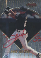 Bob Abreu Houston Astros 1996 Bowman's Best Autographed Card - Awesome Autograph. This item comes with a certificate of authenticity from Autograph-Sports. PSM-Powers Sports Memorabilia