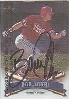 Bobby Abreu Philadelphia Phillies 1998 Topps Finest Autographed Card. This item comes with a certificate of authenticity from Autograph-Sports. PSM-Powers Sports Memorabilia